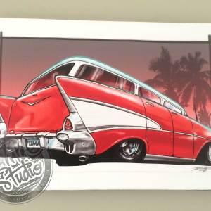 57 Chevy Wagon custom art Papamoa Mt Maunganui Tauranga Bay of Plenty New Zealand