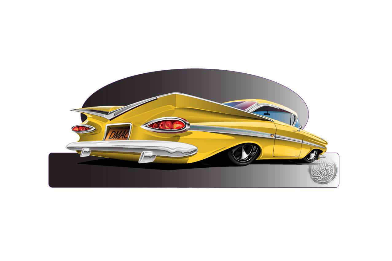 59 impala yellow