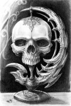 Skull drawing pencil Papamoa Mt Maunganui Tauranga Bay of Plenty New Zealand