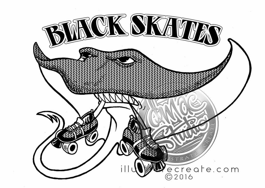 roller derby logo design