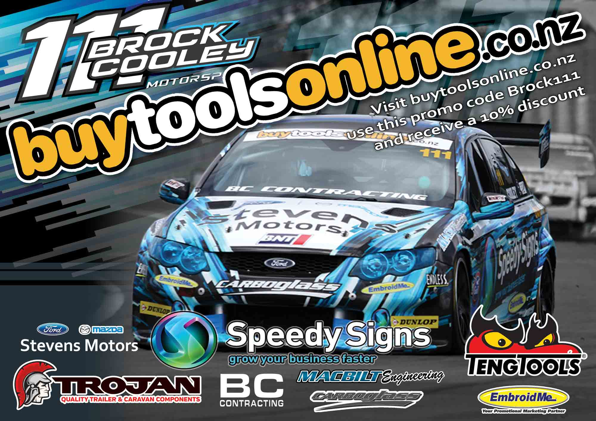 Brock Cooley NZV8 Promo Poster