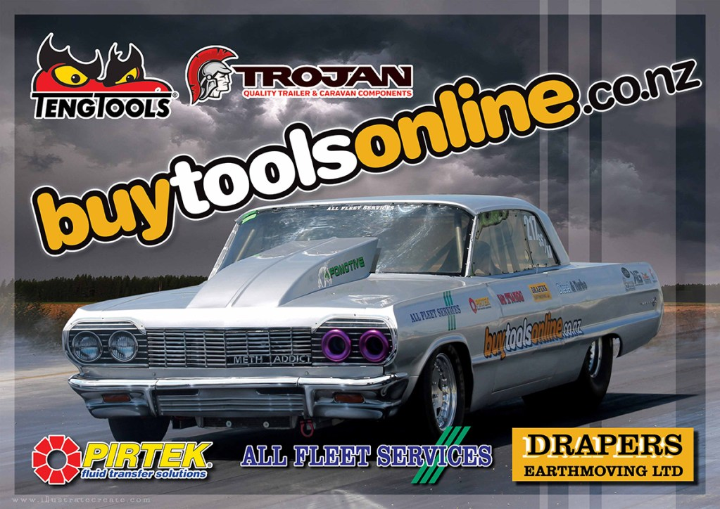 Drag car poster impala