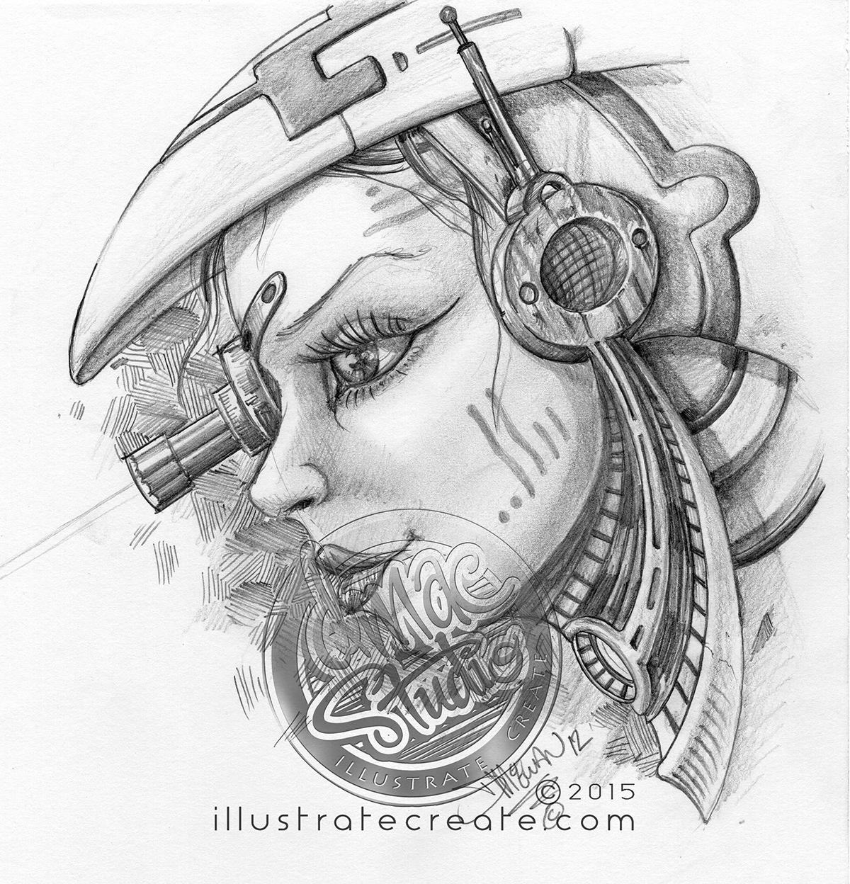 sci fi drawing