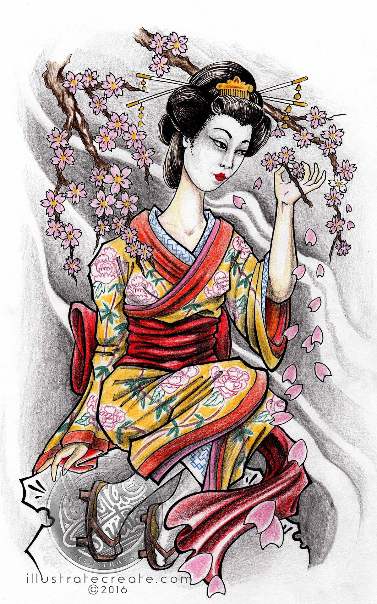 geisha cherry blossoms