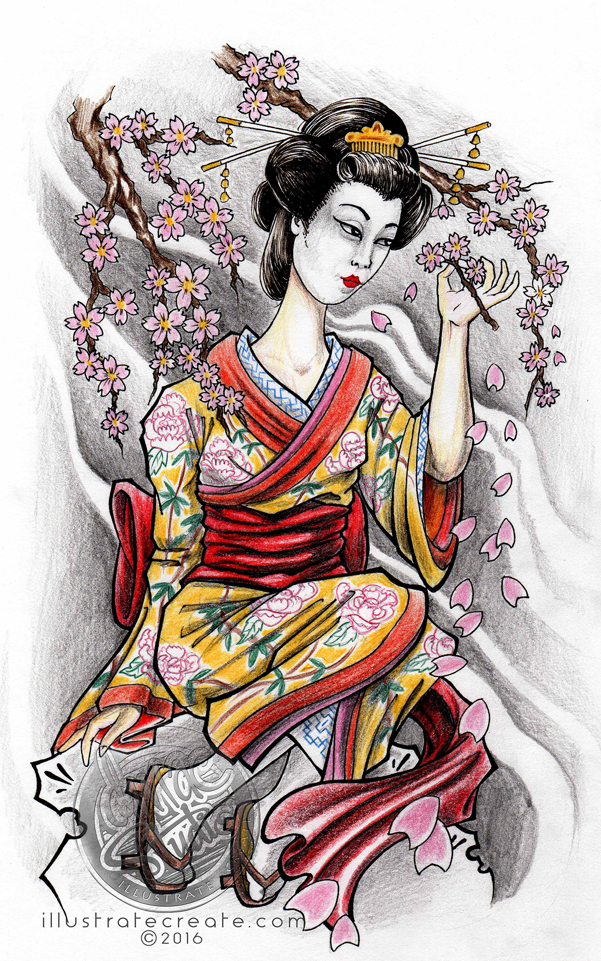 geisha cherry blossoms