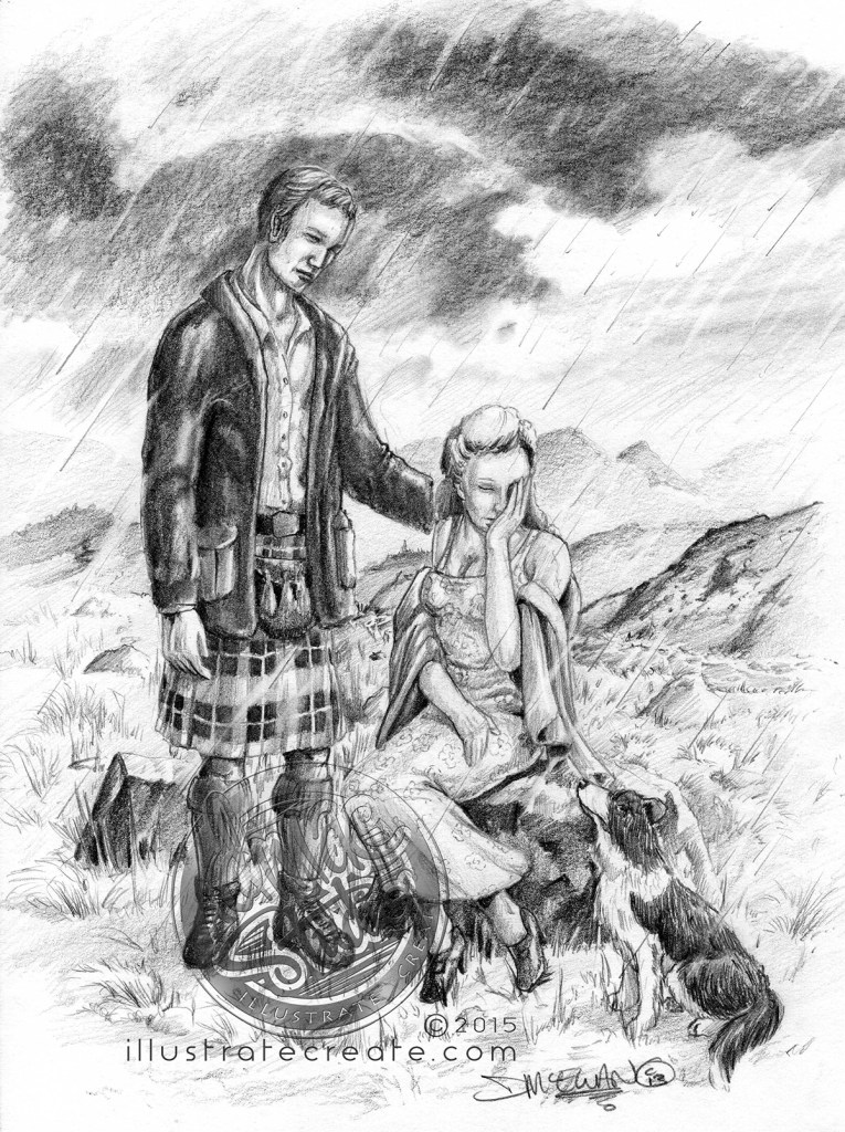 Scottish lovers art
