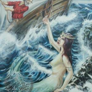 Mermaid oil painting art artist Papamoa Mt Maunganui Tauranga Bay of Plenty New Zealand