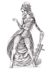 Steampunk art character design Drawing Papamoa Mt Maunganui Tauranga Bay of Plenty New Zealand