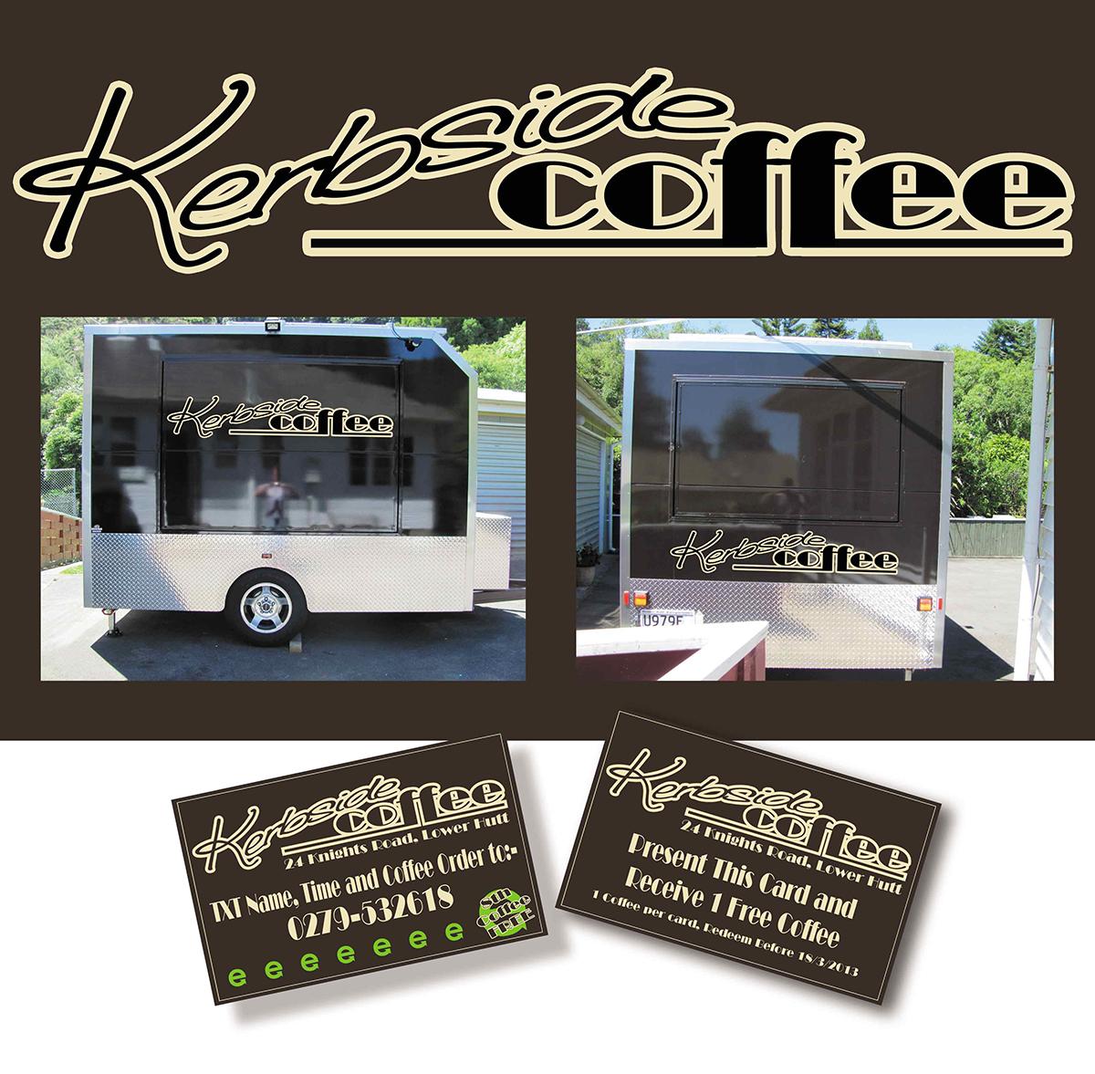 coffee caravan branding