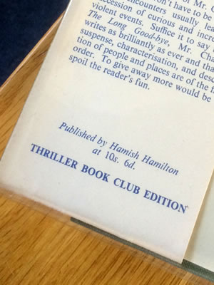 Hamish Hamilton, Thriller Book Club. The Long Good-by