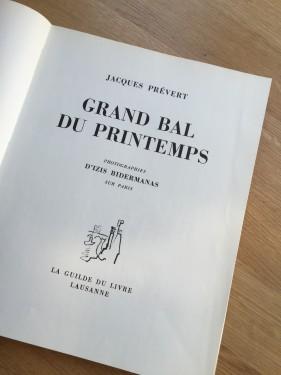 Grand Bal de Printemps, Jaques Prévert