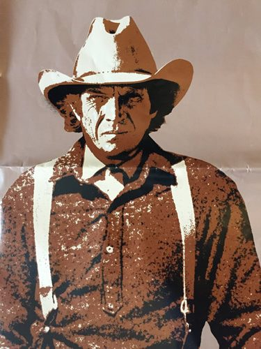 Steve McQueen Tom Horn Poster. A rare poster printed in the USA in 1980 6678a0f675e6