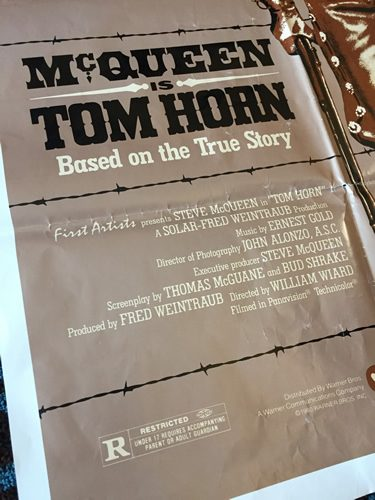 Steve McQueen, rare movie poster, Tom Horn