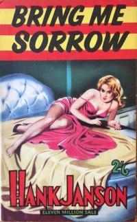 Hank Janson paperback, Bring Me Sorrow