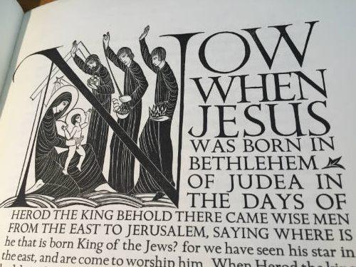 Golden Cockerel Press Prospectus 1930, The Four Gospels, Eric Gill