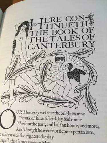 Golden Cockerel Press Prospectus 1930, Canterbury Tales, Eric Gill