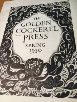 Golden Cockerel Press Prospectus 1930, Eric Ravilious