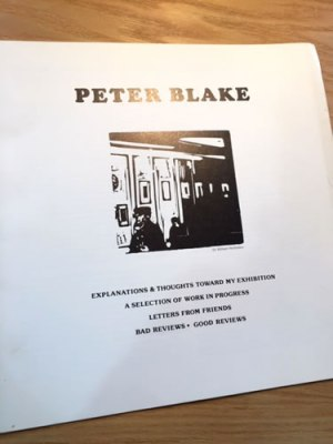 Peter Blake booklet 1983