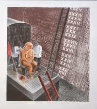 Ravilious Submarine, Camberwell Lithograph, The Diver
