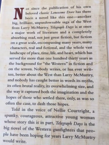 Telegraph Days, Larry McMurtry
