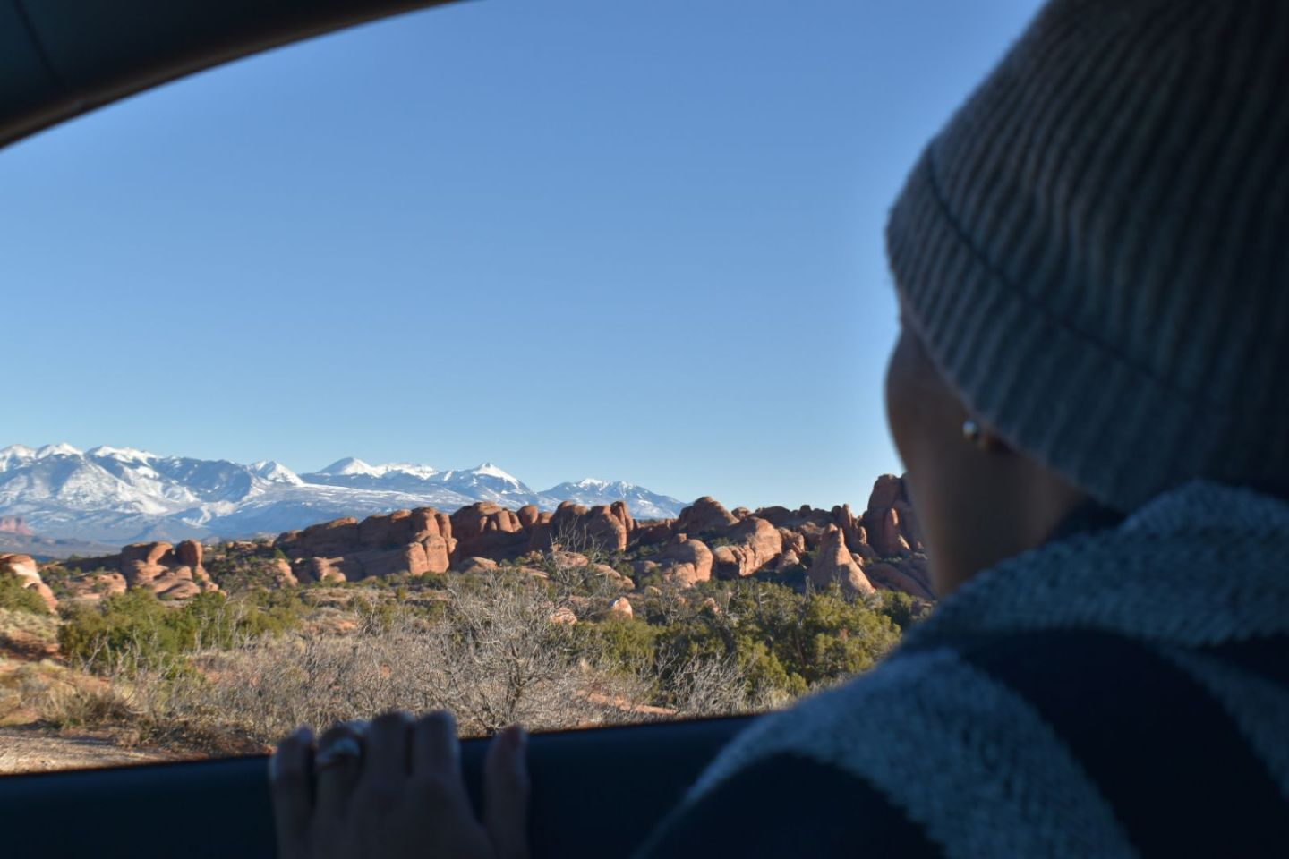 Illustrated by Sade - Views of Utah Arches National Park during road trip