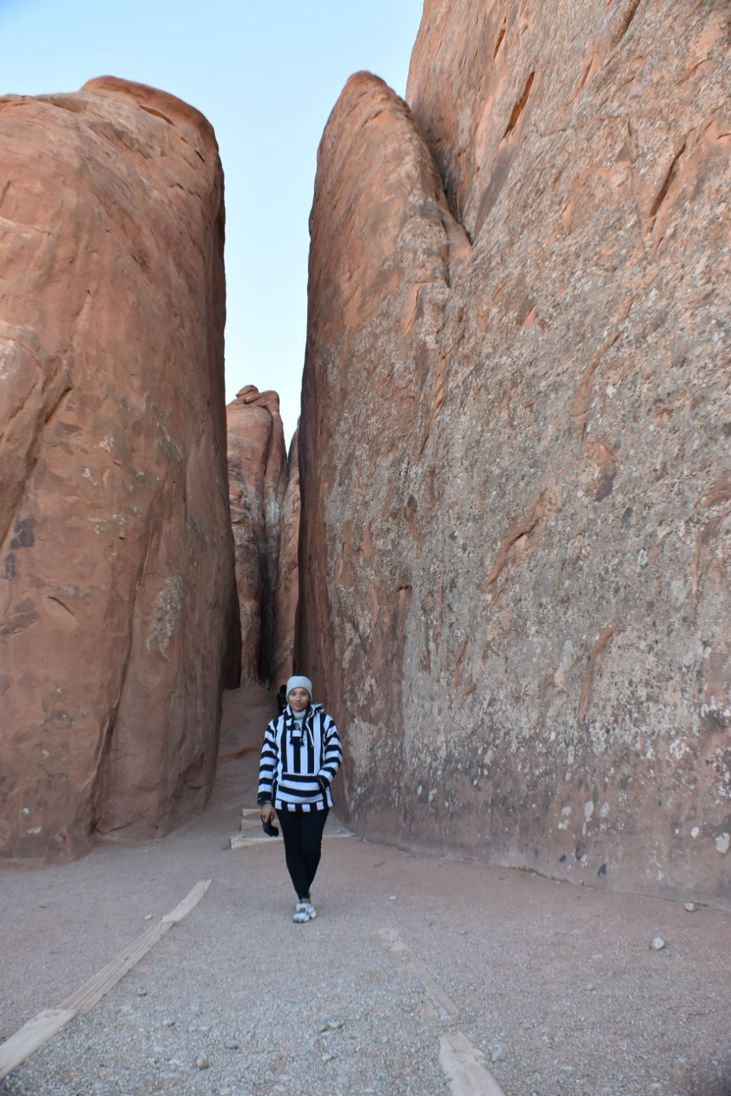 Illustrated by Sade - Slot Canyon in Arches National Park