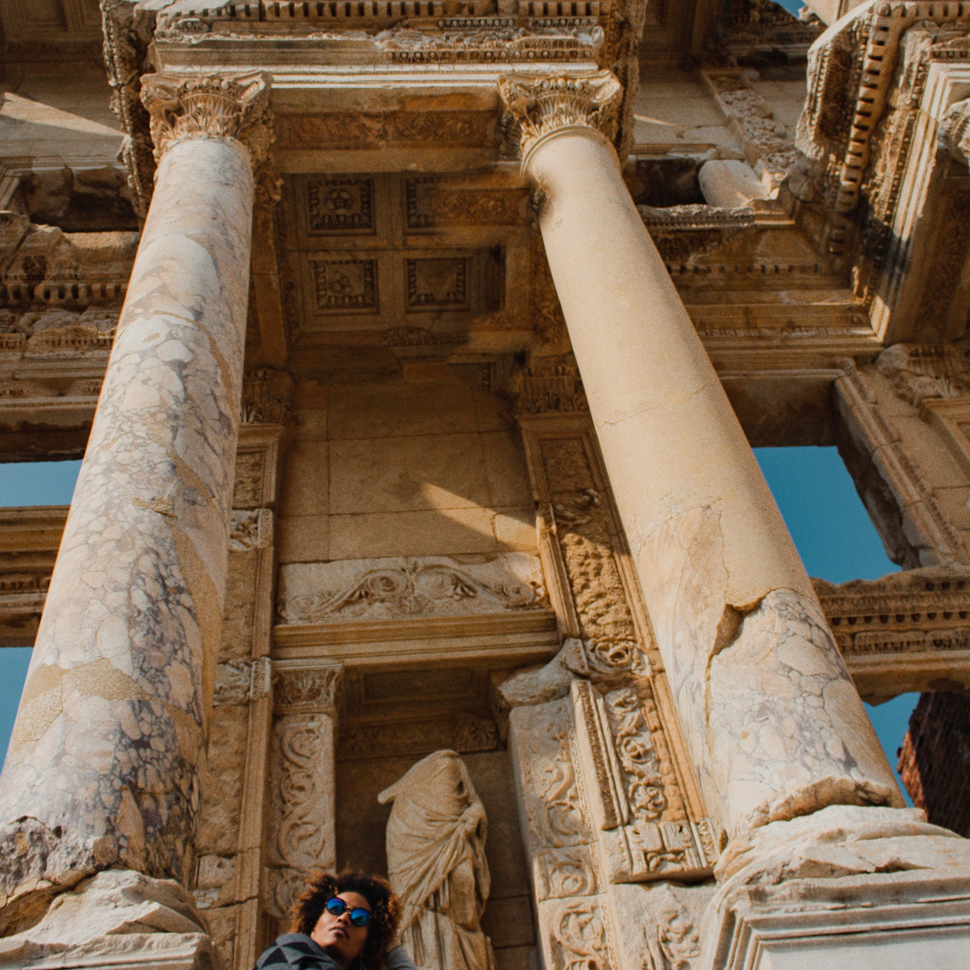 Illustrated by Sade - Pillars of the Library of Celsus in Ephesus
