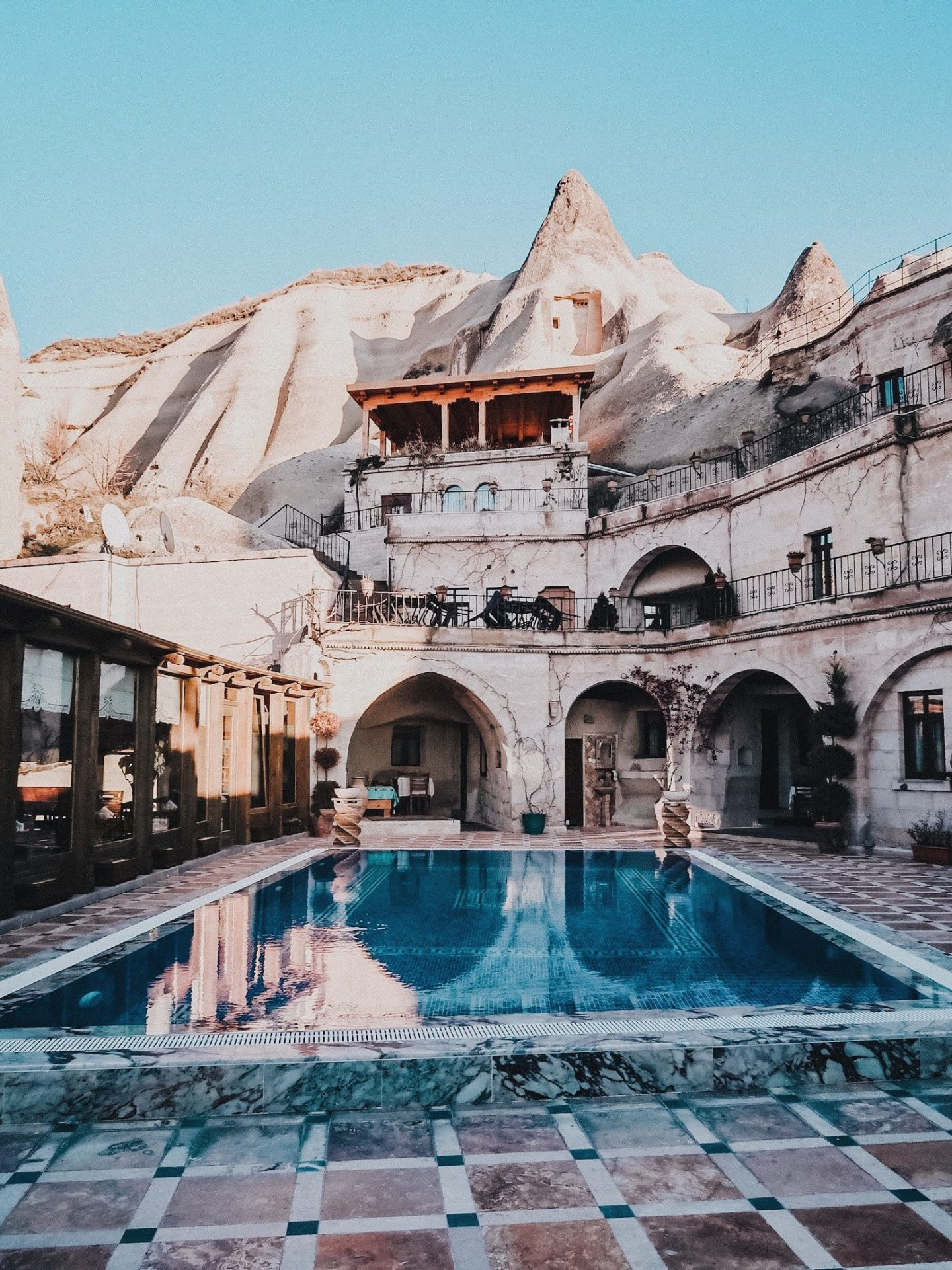 Illustrated by Sade - Pool at Local Cave House in Cappadocia