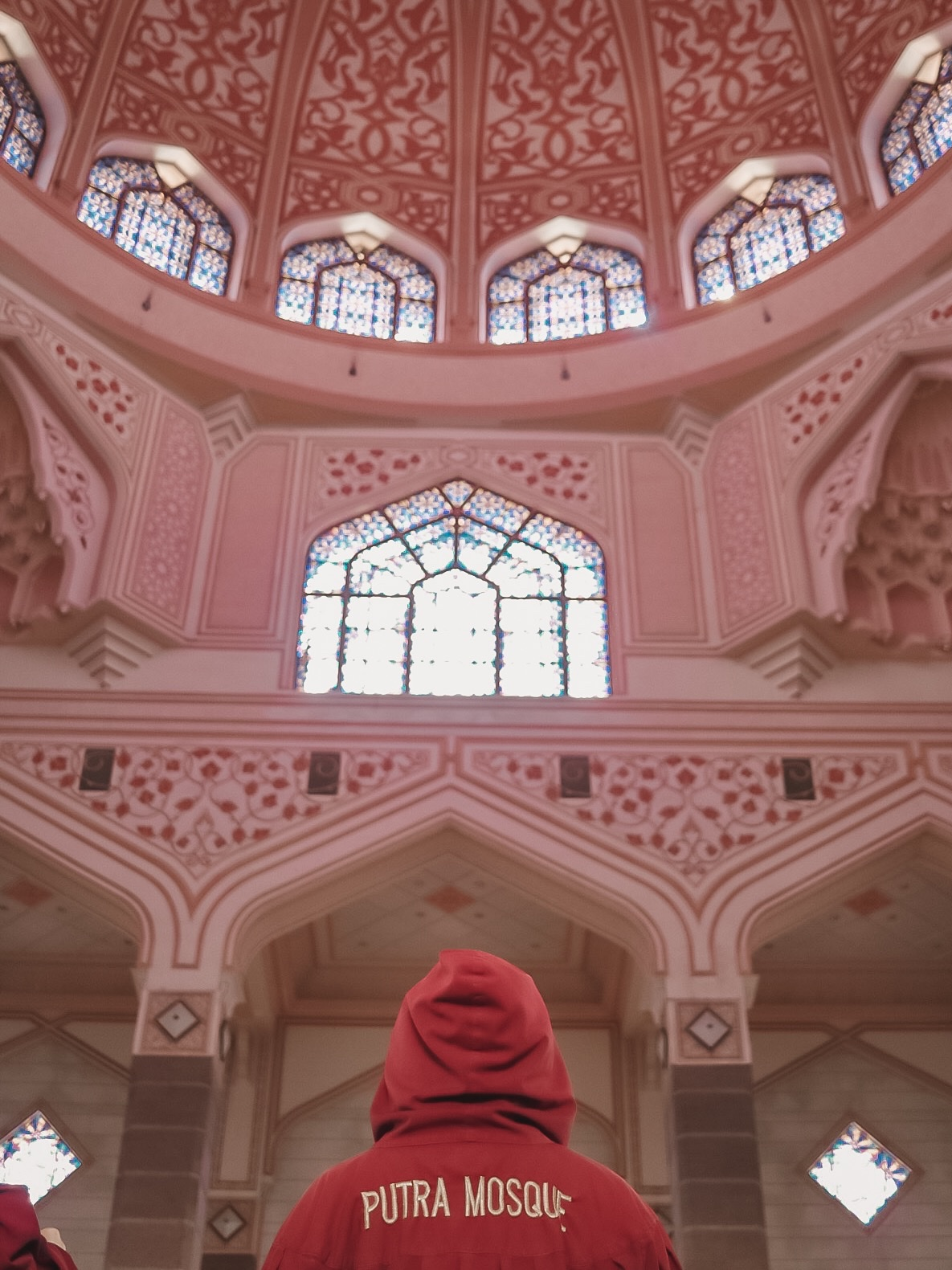 Illustrated by Sade - Inside the pink mosque