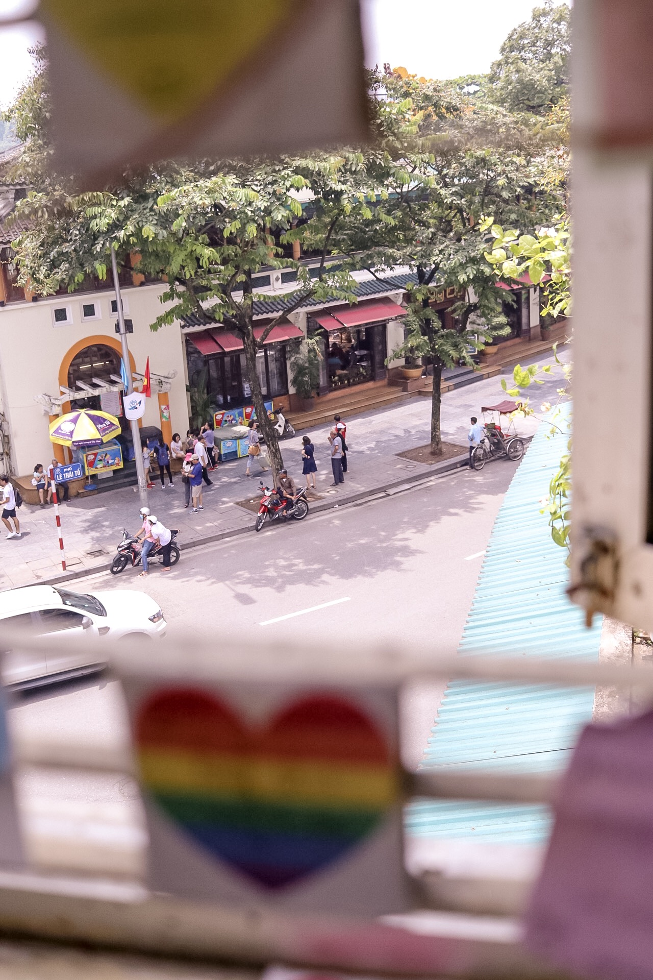 Illustrated by Sade - Outside View from Note Coffee Cafe | Hanoi, Vietnam