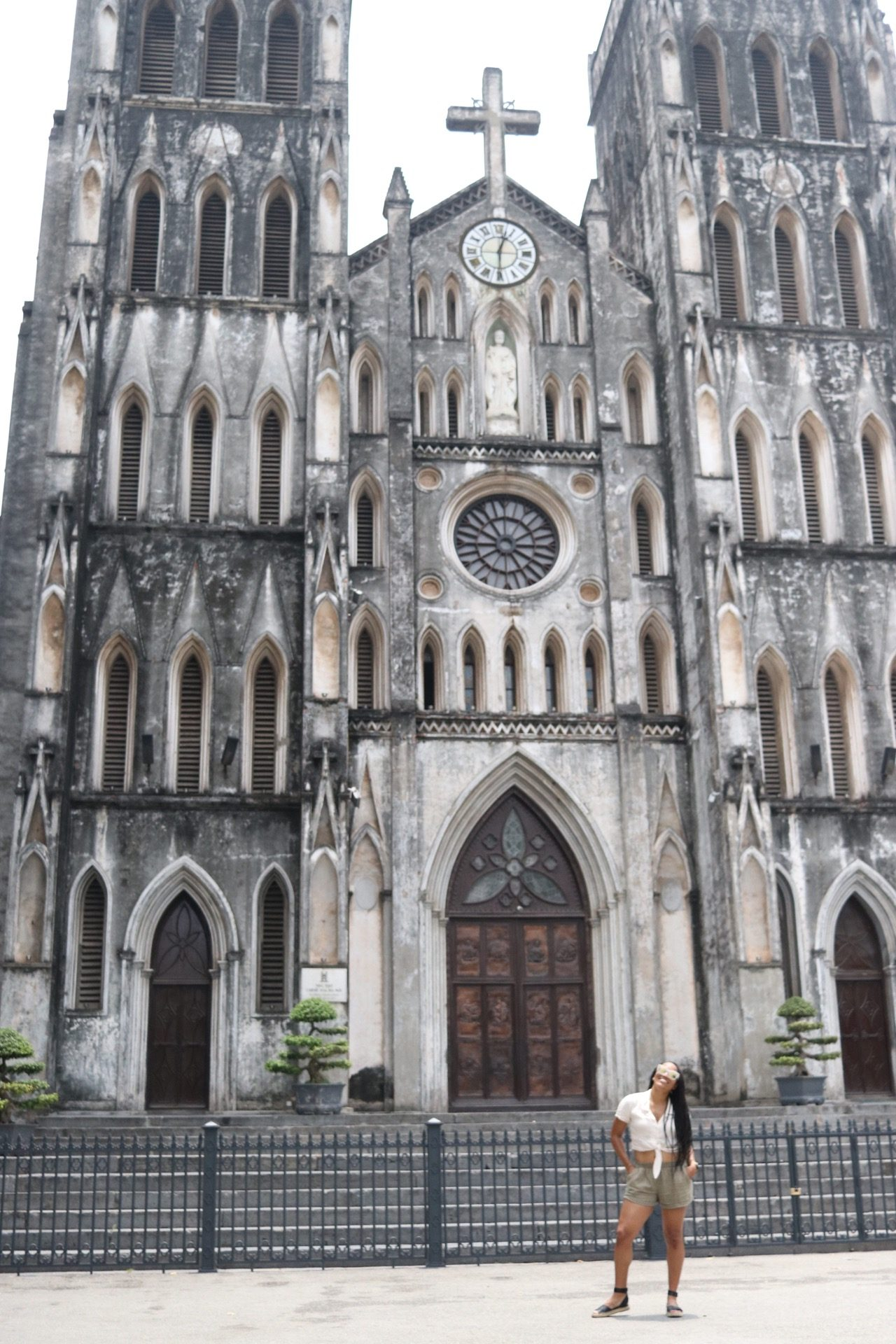 Illustrated by Sade - Outside of St. Joseph's Cathedral | Hanoi, Vietnam