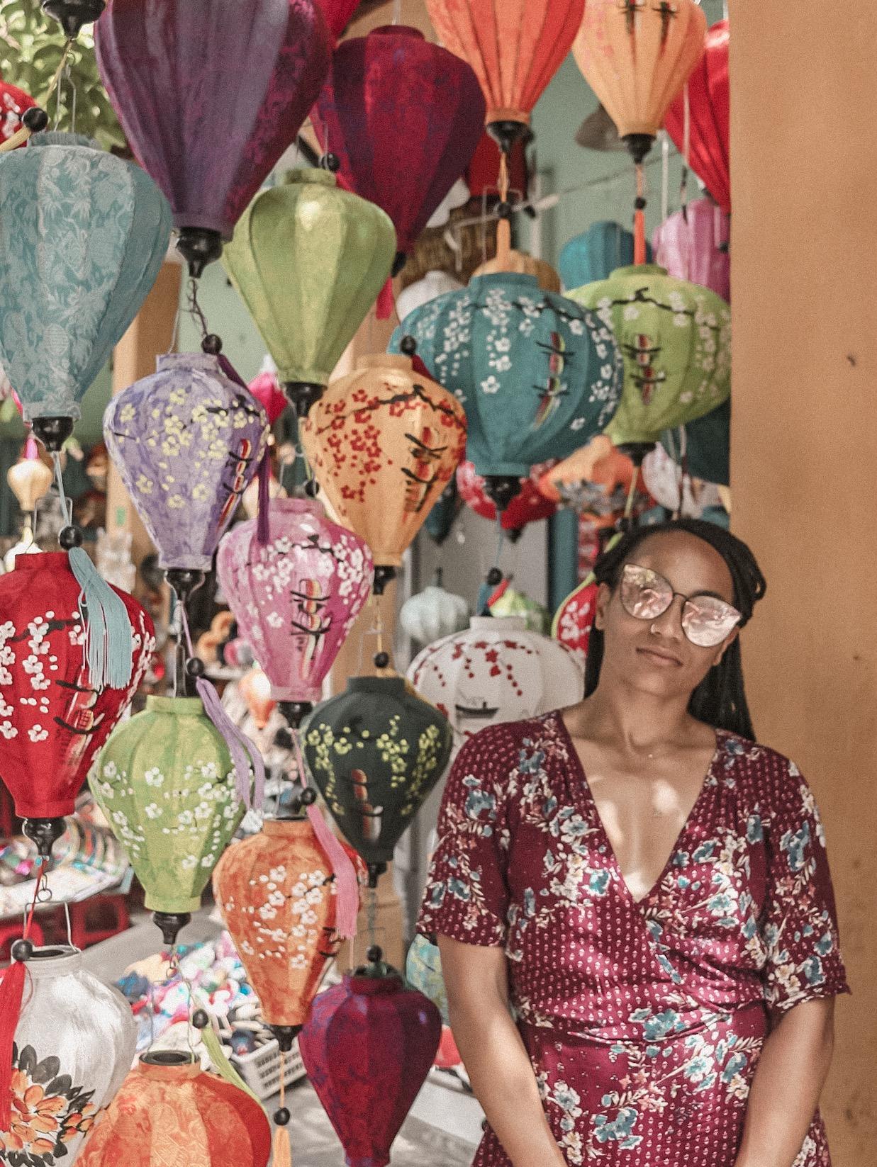 Illustrated by Sade - Lanterns in Hoi An, Vietnam