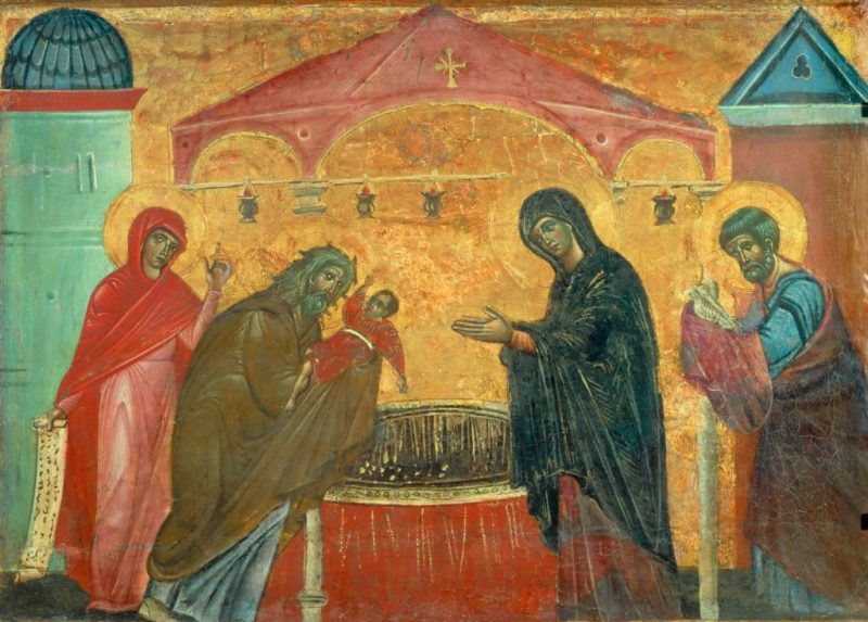 The Presentation at the Temple, by Guido of Siena, c. 1275-80. Musée du Louvre, Paris, France. Via IllustratedPrayer.com