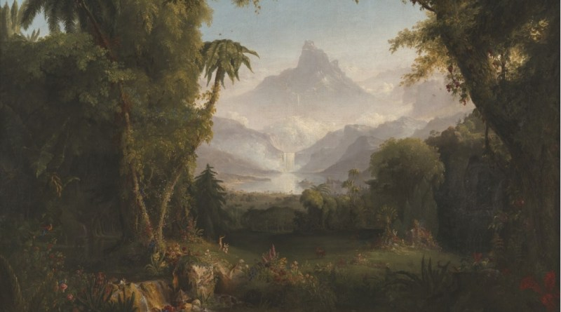 The Garden of Eden, by Thomas Cole, c. 1828. Amon Carter Museum of American Art, Fort Worth, Texas, United States. Via IllustratedPrayer.com