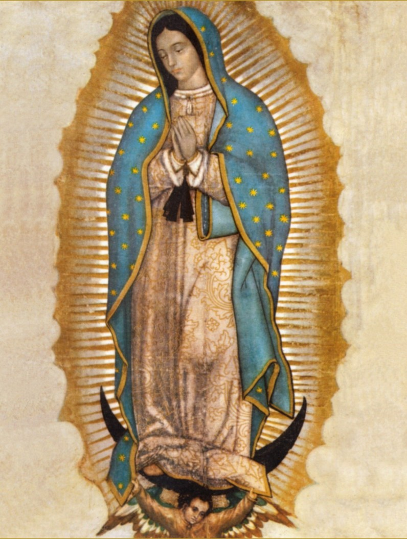 Our Lady of Guadalupe, c. 1531. Basilica of Our Lady of Guadalupe, Tepeyac Hill, Mexico City, Mexico.