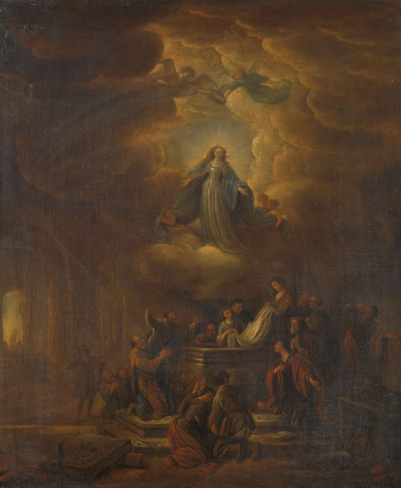 Assumption of the Virgin, by Jacob de Wet (I), c. 1640-72. Rijksmuseum, Amsterdam, Netherlands. Via IllustratedPrayer.com