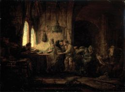 The Parable of the Laborers in the Vineyard, by Rembrandt Harmenszoon van Rijn, c. 1637.
