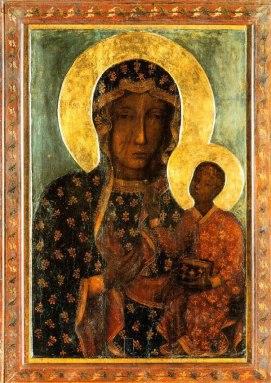 Our Lady of Częstochowa, c. 14th century(?), Jasna Gorna Monastery, Częstochowa, Poland. Via IllustratedPrayer.com