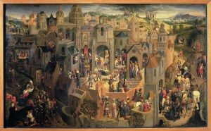 Scenes of the Passion, by Hans Memling, c. 1470-71. Galleria Sabauda, Turin, Italy. Via IllustratedPrayer.com