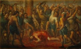 The Flagellation, by Nicolás Enríquez, c. 1729. Museo Nacional de Arte, Mexico City, Mexico.