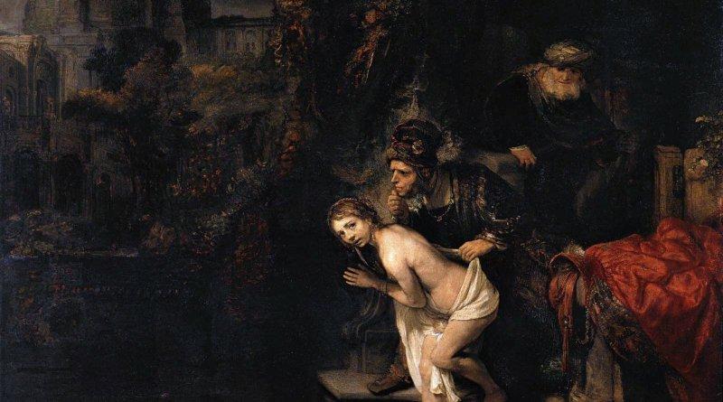 Susanna and the Elders, by Rembrandt, c. 1647. Gemäldegalerie, Berlin, Germany. Via IllustratedPrayer.com