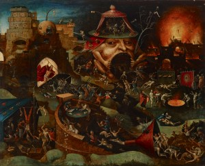 Christ in Limbo, by a follower of Hieronymus Bosch, c. 1575. Indianapolis Museum of Art, Indianapolis, Indiana, United States. Via IllustratedPrayer.com