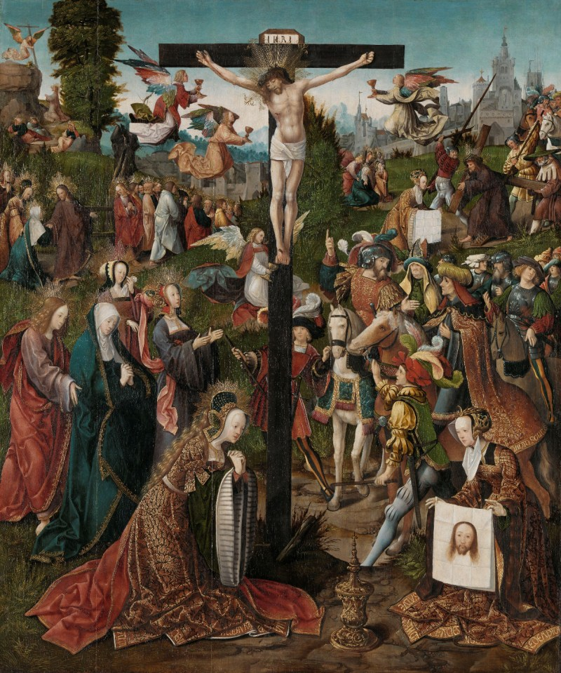 The Crucifixion, by Jacob Cornelisz van Oostsanen, c. 1507-10. Rijksmuseum, Amsterdam, Netherlands. Via IllustratedPrayer.com