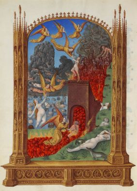 Purgatory from Les Très Riches Heures du duc de Berry, c. 15th century. Musee de Conde, Chantilly, France.