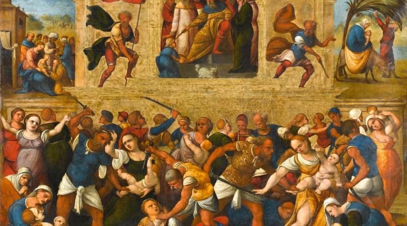 Massacre of the Innocents, by Ludovico Mazzolinio, c. 1510-30. Rijksmuseum, Amsterdam, Netherlands. Via IllustratedPrayer.com