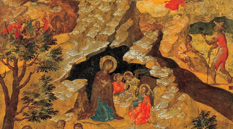 The Nativity, by Moskos Ilias, c. 1658. Benaki Museum of Greek Civilization, Athens, Greece. Via IllustratedPrayer.com