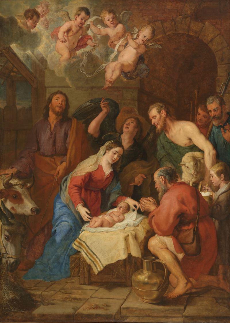 The Adoration of the Shepherds, by Gaspar de Crayer, c. 1630-69. Rijksmuseum, Amsterdam, Netherlands. Via IllustratedPrayer.com