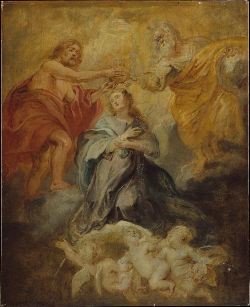 The Coronation of the Virgin, by Peter Paul Rubens, c. 1632-33. The Metropolitan Museum of Art, New York, New York, United States. Via IllustratedPrayer.com