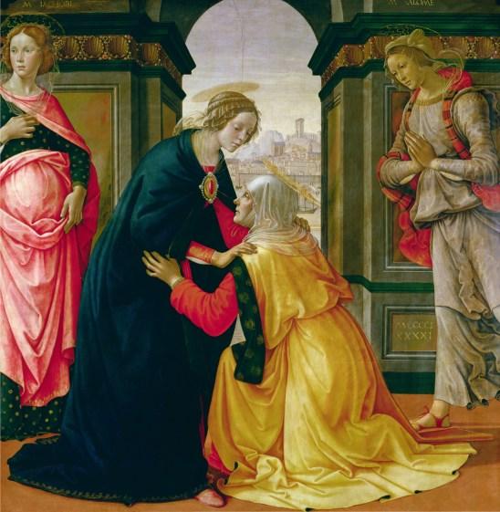 Visitation, by Domenico Ghirlandaio, c. 1491. Louvre Museum, Paris, France. Via IllustratedPrayer.com
