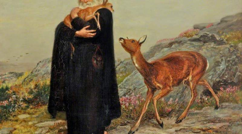 A Legend of St. Patrick, by Briton Riviere, c. 1877. Sudley House, Liverpool, England. Via IllustratedPrayer.com